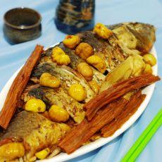 栗子腐竹炖鲤鱼