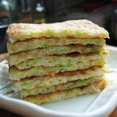 米饭蔬菜鸡蛋饼的做法