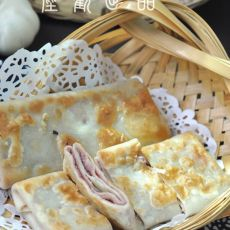 烫面豆沙锅饼