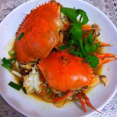 香煎红膏蟹
