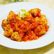 西红柿汁焖肉丸的做法