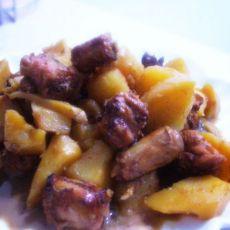 鸡脖焖土豆