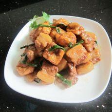 油豆腐焖肉