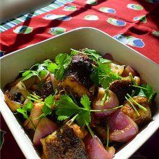 蒜头豆豉焖海鳝