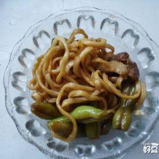 扁豆焖面―饭菜一锅焖