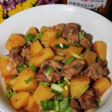 大酱焖土豆排骨