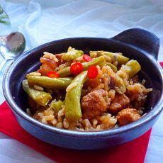肉丁豆角焖饭