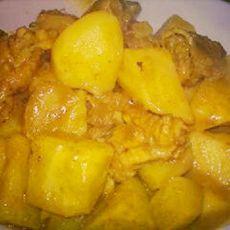 咖喱鸡焖薯仔