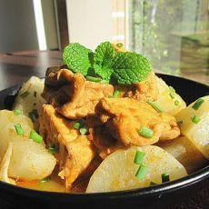 油豆腐焖萝卜