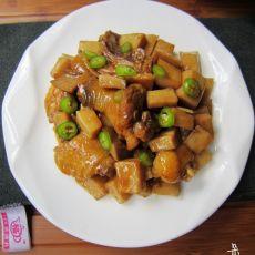 土鸡焖杏鲍菇