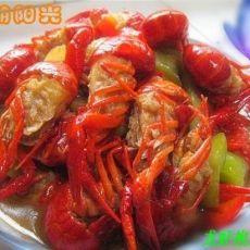 小龙虾焖丝瓜