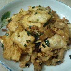 肉片炒煎豆腐