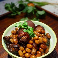 香菇黄豆焖猪尾