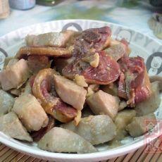 香芋焖腊鸭