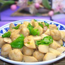 杏鲍菇烧鱼丸