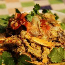 椰蓉炒河蟹