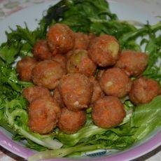 炸白萝卜肉丸