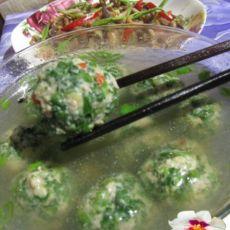 野菜的魅力-荠菜肉丸汤