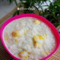 鸽蛋牛奶粥