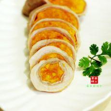 咸蛋黄酿猪肚的做法
