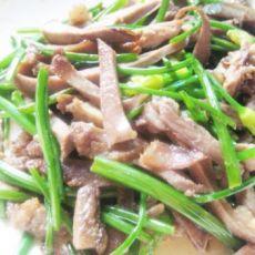 卤猪舌炒韭菜花