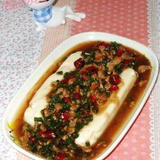 肉末豇豆卤汁豆腐