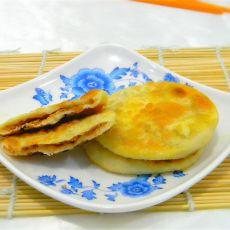 橙丝花生小饼