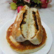 豆沙馅发面饼的做法