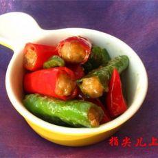 酿杭椒的做法