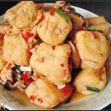 香菇肉末酿豆泡