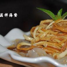 金针菇拌海蜇