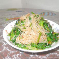 红油菠菜粉丝
