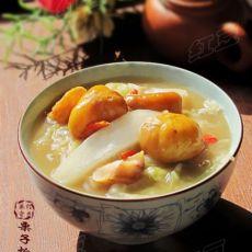 栗子烩白菜-冬季滋补菜