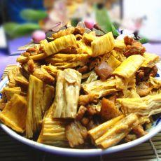 腐竹烩五花肉片
