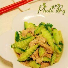 黄瓜烩肉丝的做法