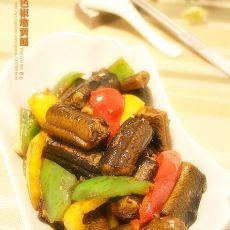 三色椒烩黄鳝的做法