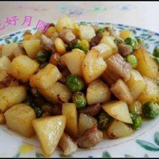 金童玉女豌豆烩