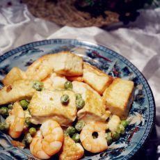 青豆虾仁烩豆腐