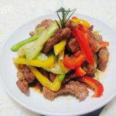 彩椒西芹烩猪扒肉