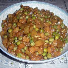 茄丁烩豌豆