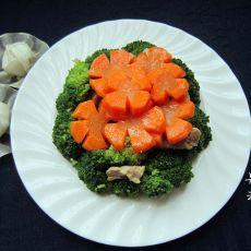 西兰花烩胡萝卜的做法
