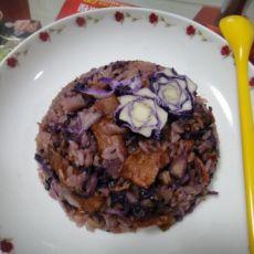 酒香紫甘蓝烩饭