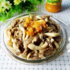 黄灯椒烩菌菇牛肉丸子
