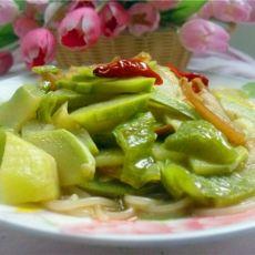 笋瓜腊肉烩粉丝的做法