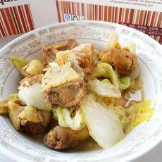 鸡块烩白菜