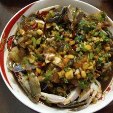 香辣生腌螃蟹