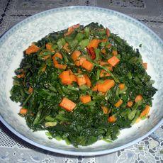 腌雪菜炒胡萝卜丁