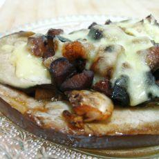 香菇肉酱�h茄子