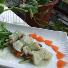 橄榄油姜汁�h鲈鱼卷