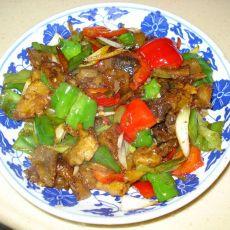 双椒炝牛蹄筋的做法